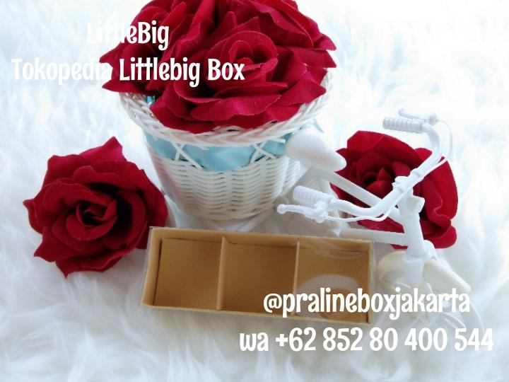 Kotak/Box/Kemasan/Dus Coklat Praline Isi 3