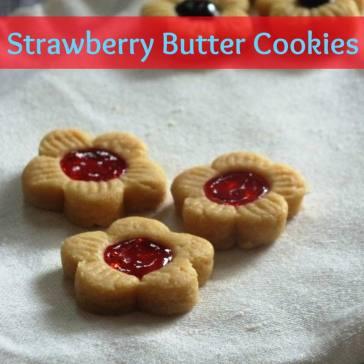 Stroberi Butter Cookies